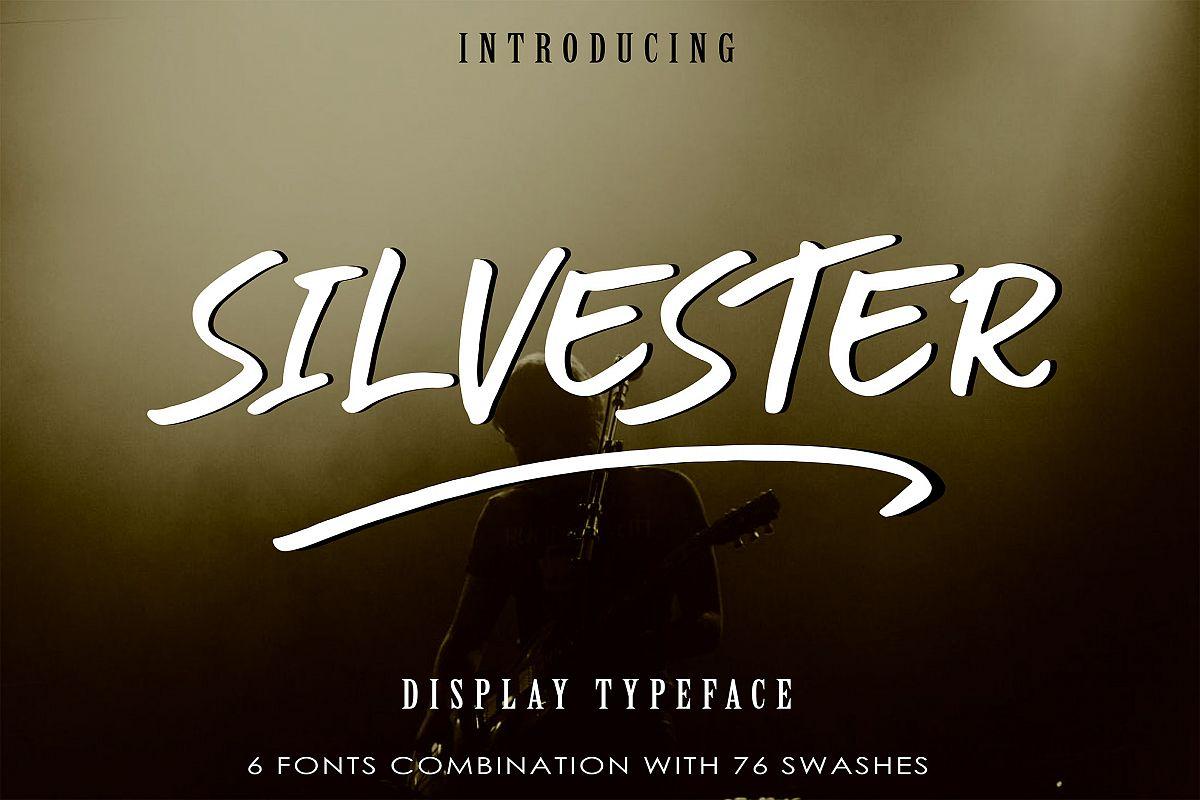 SILVESTER | 6 FONT BRUSH PEN example image 1