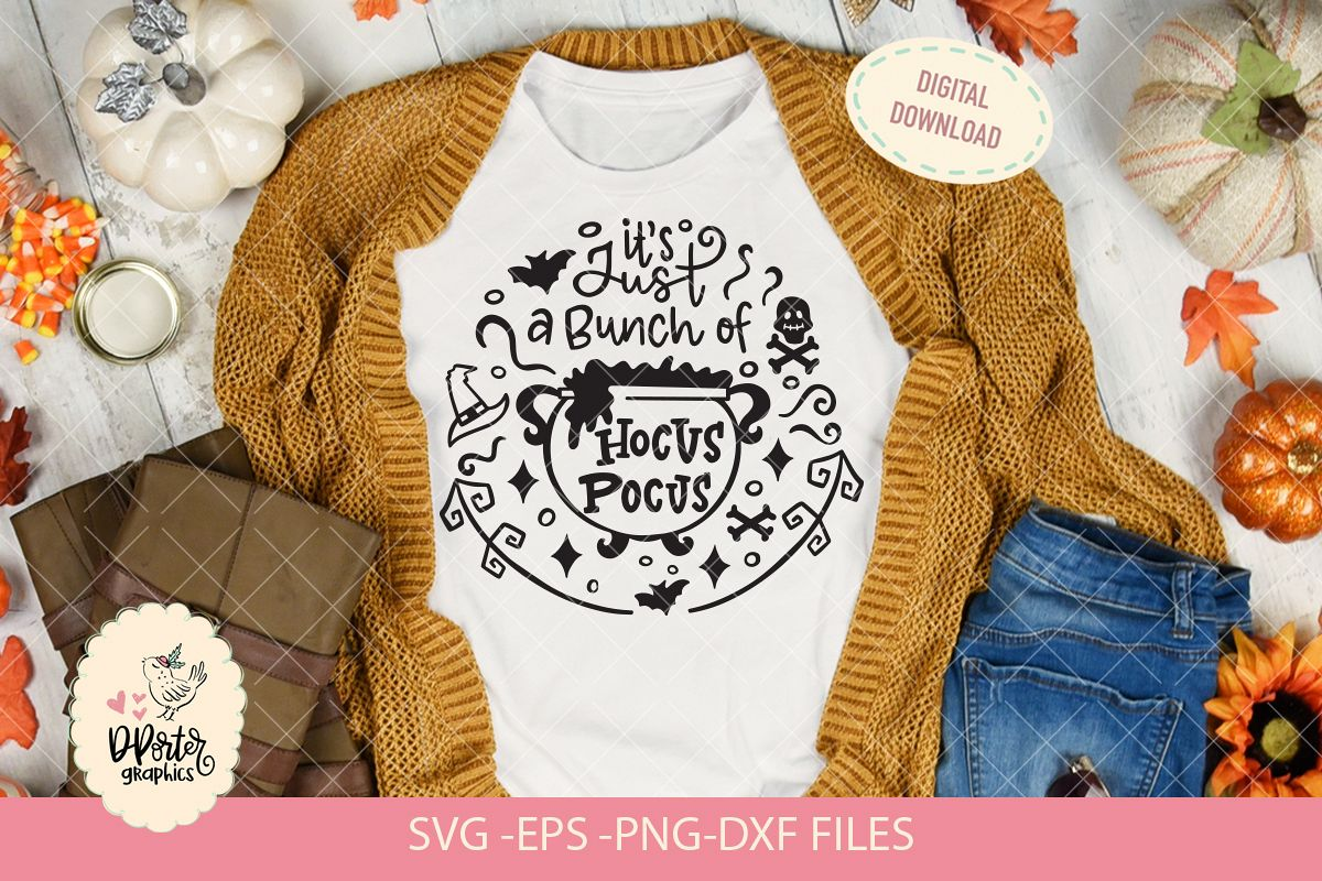 its just a bunch of hocus pocus, cameo cricut svg file example image 1