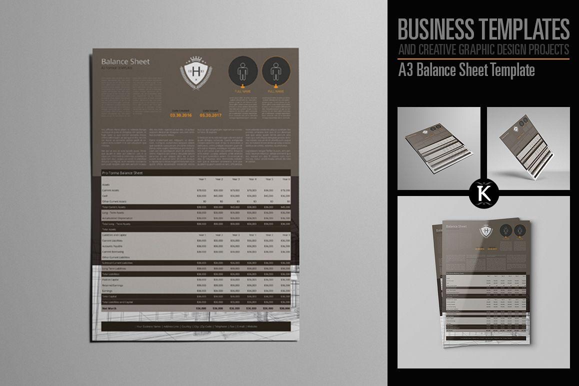 A3 Balance Sheet Template example image 1