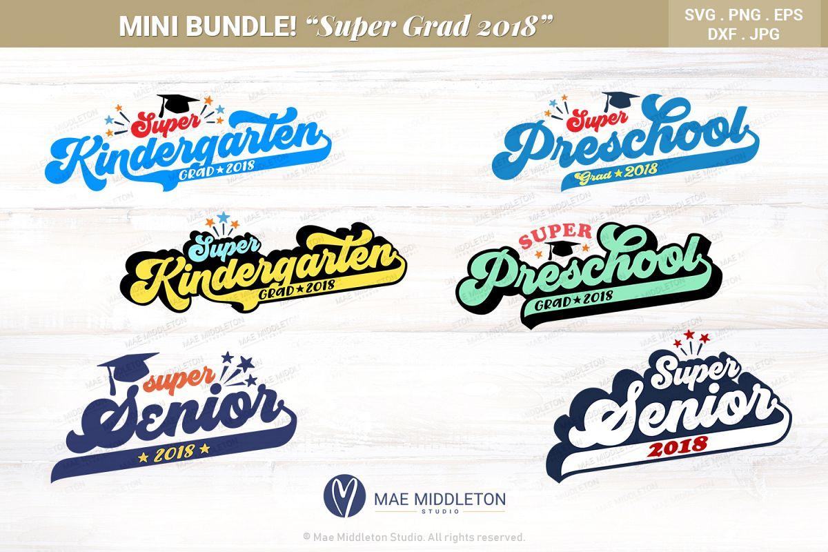 Mini Bundle Preschool, Kinder, Senior Grad - editable years example image 1