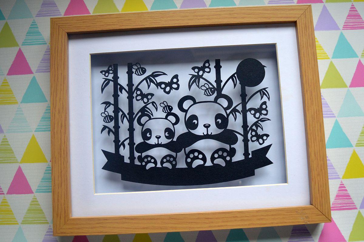 Panda Paper Cut SVG File example image 1