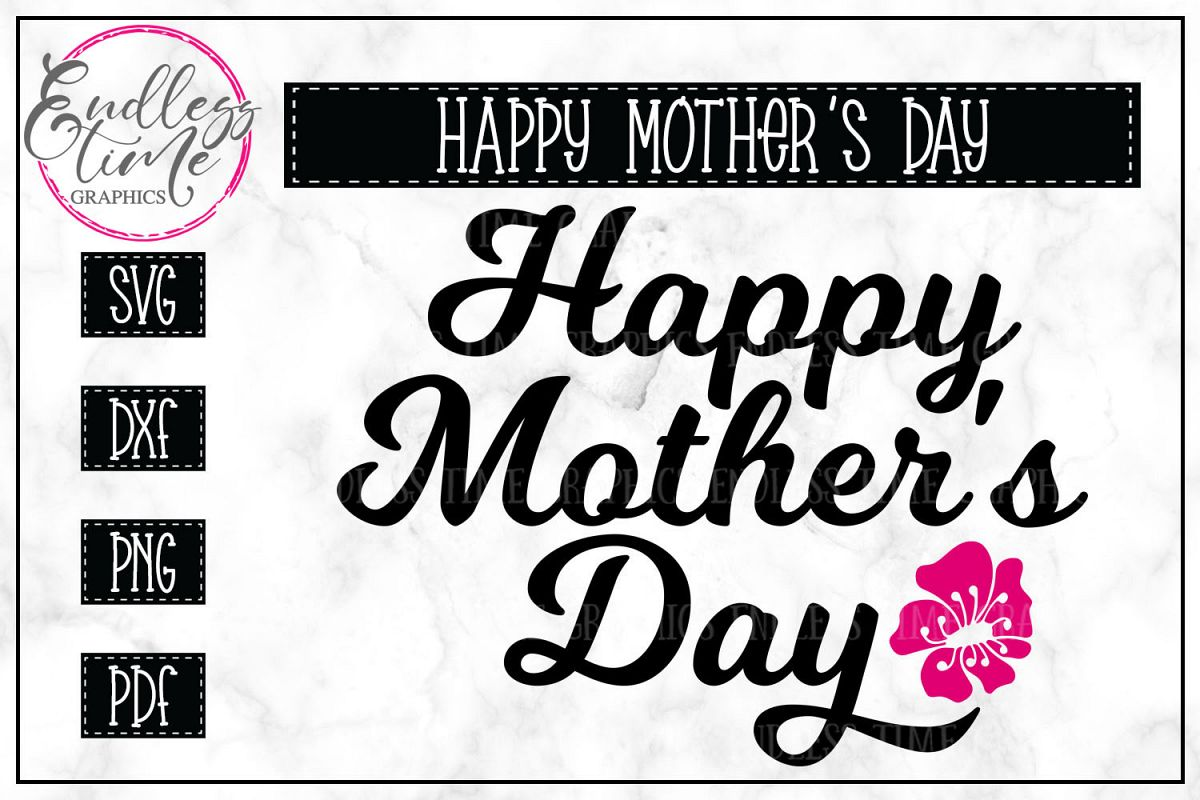 Happy Mother's Day SVG Cut File example image 1