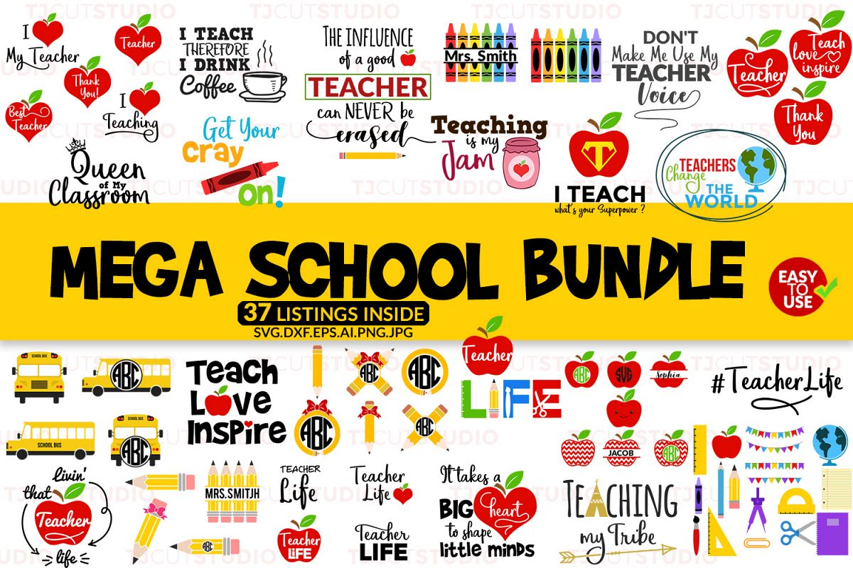School Bundle svg, Mega School Bundle svg example image 1