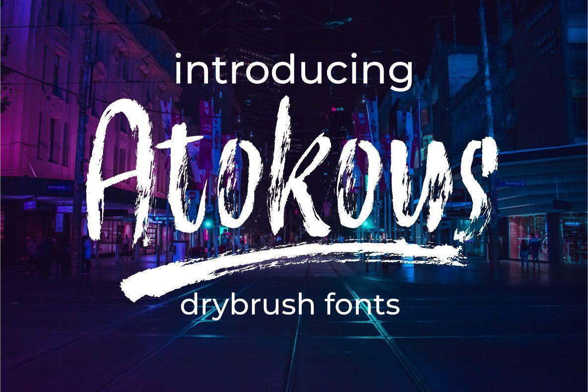Atokous | Drybrush Fonts example image 1