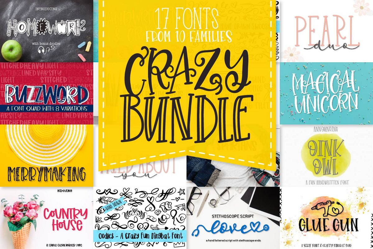 My Favorite Fonts - Crazy Good Deal! - 17 fonts! example image 1
