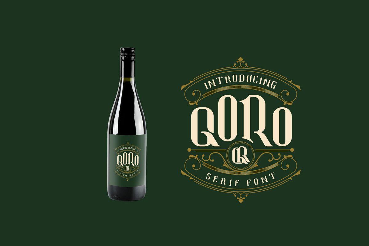Qoro - Vintage Serif Font example image 1