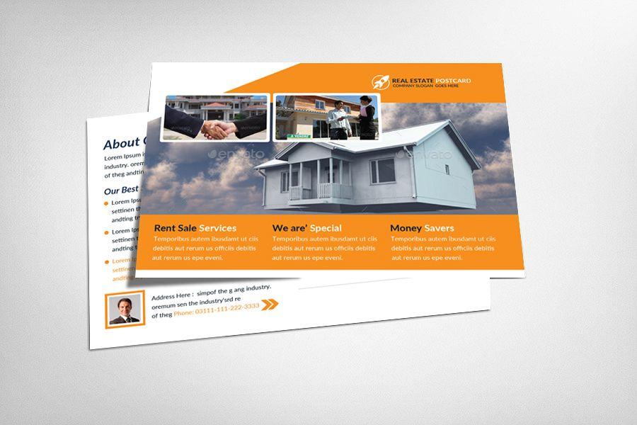 Coastal Real Estate Postcard Template example image 1