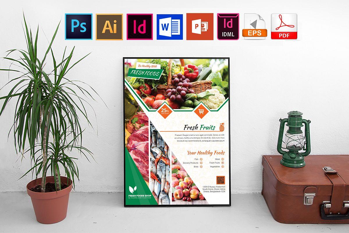 Poster | Fresh Food Shop Vol-02 example image 1