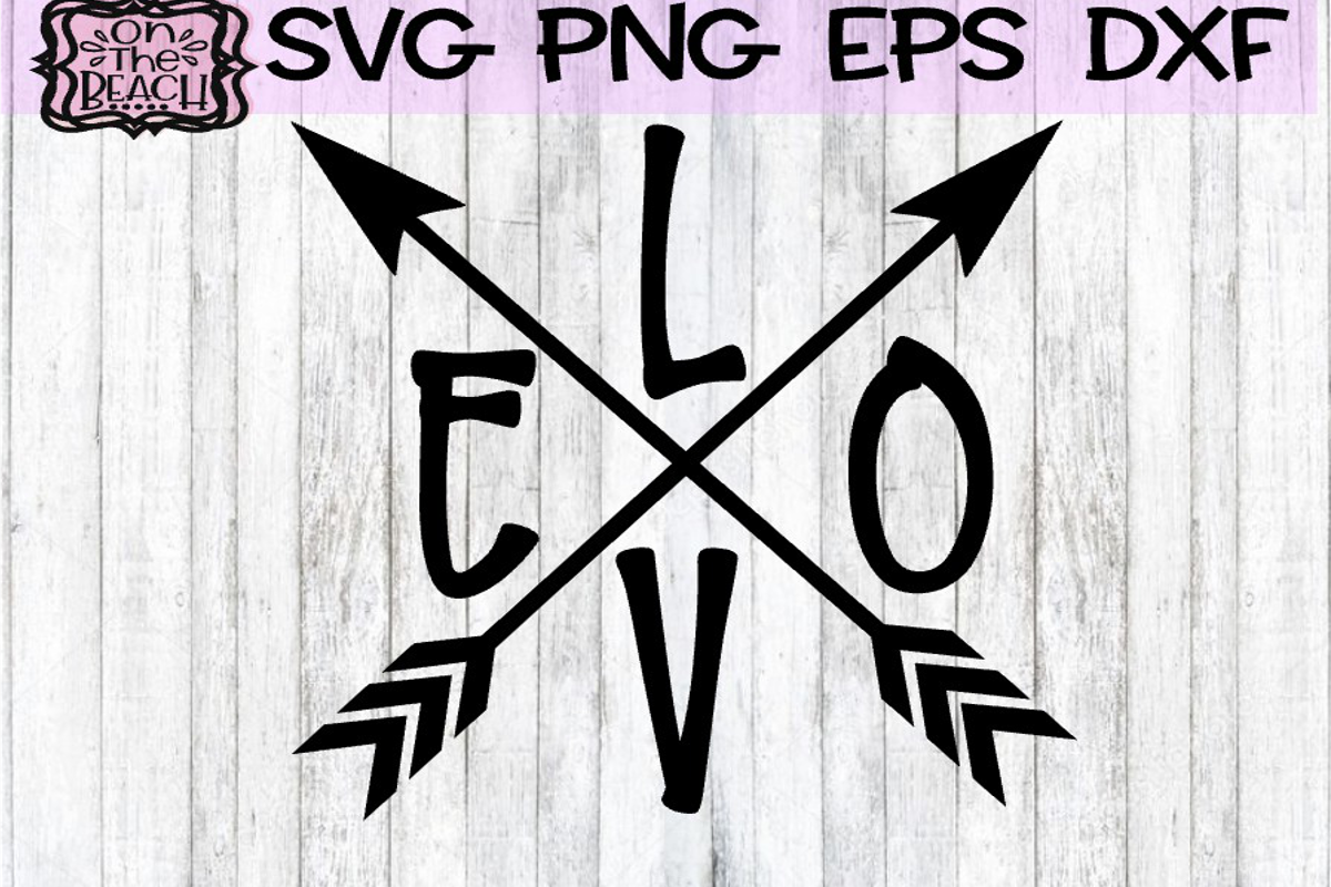 Valentine - Love - Love Arrows SVG PNG DXF EPS example image 1