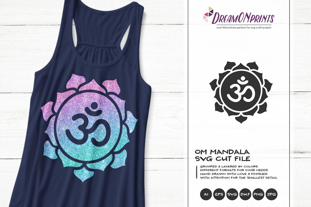 Om Mandala SVG | Yoga Cut Files example image 1