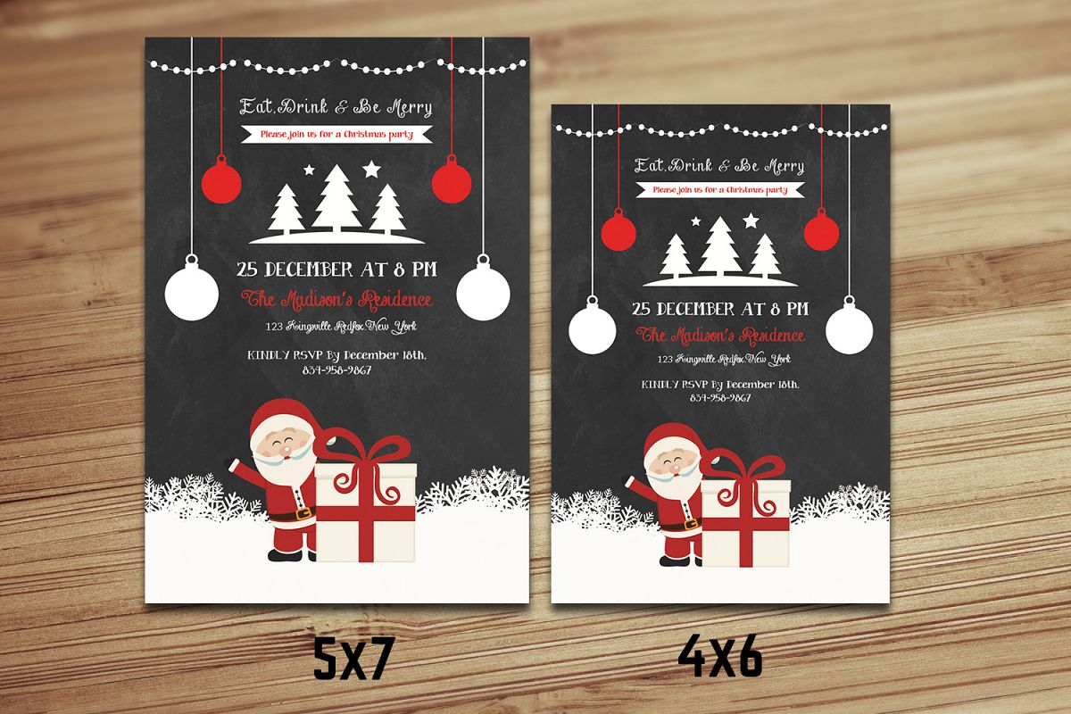 Christmas Holiday Party Flyer example image 1