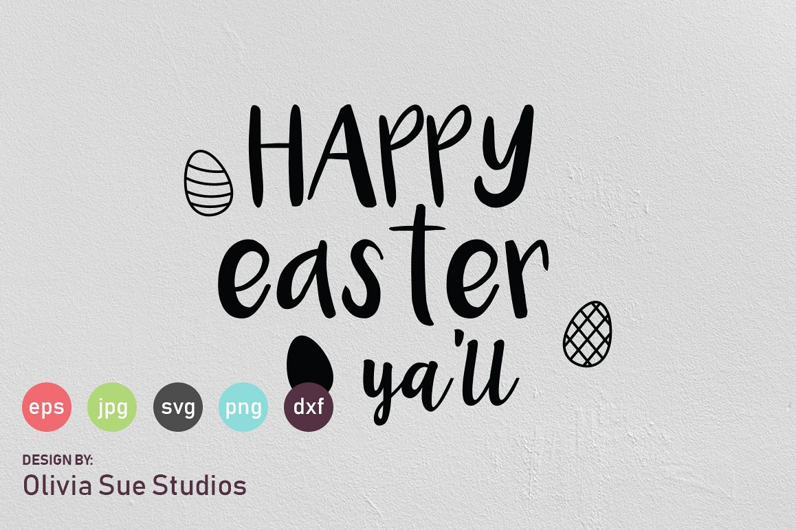 Happy Easter Ya'll SVG Cut File example image 1
