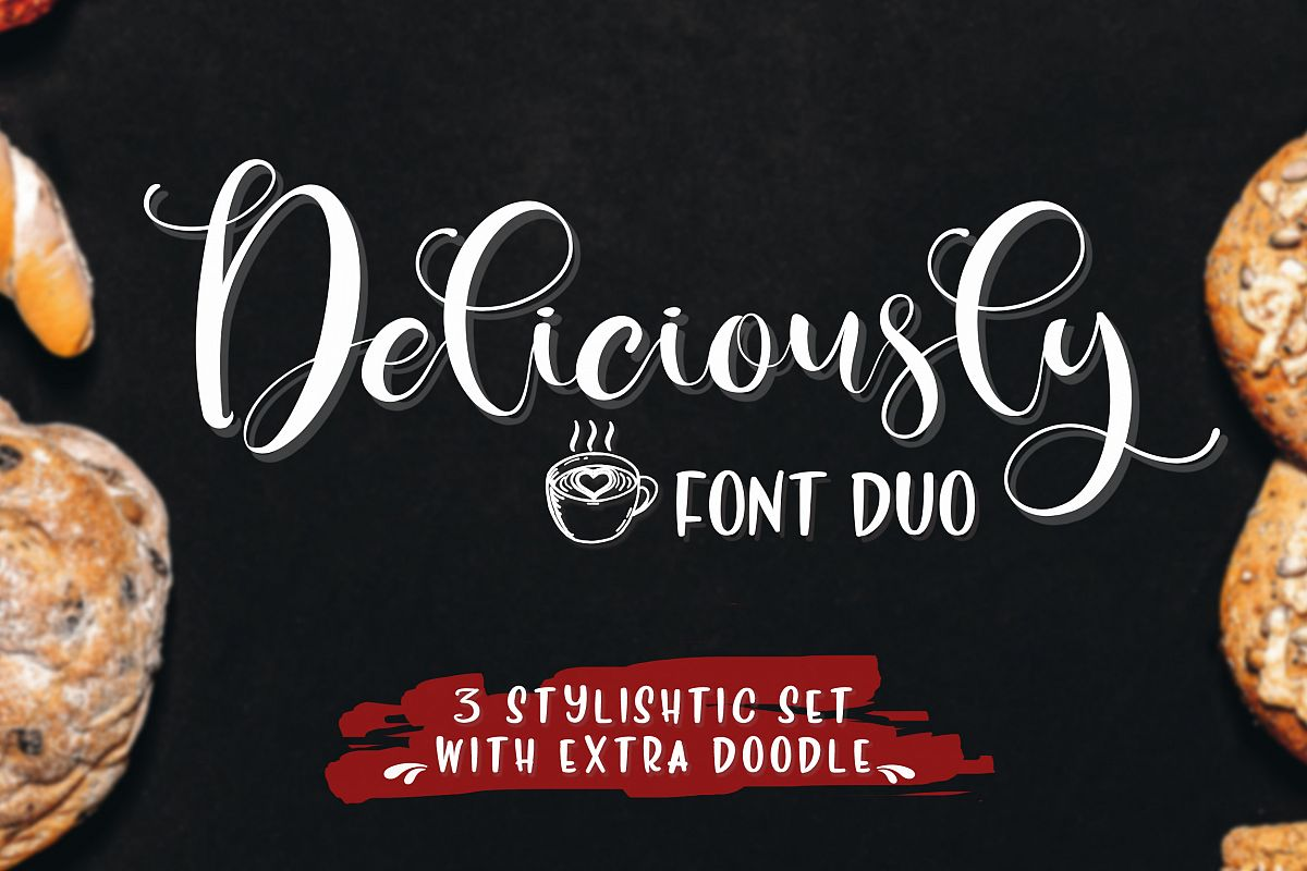 Deliciously Font Duo  Extras example image