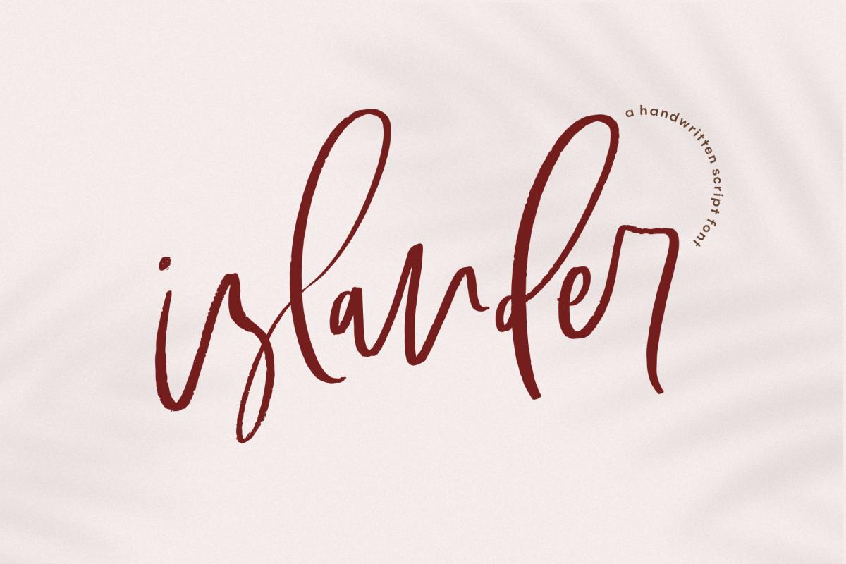 Islander - A Handwritten Script Font example image 1