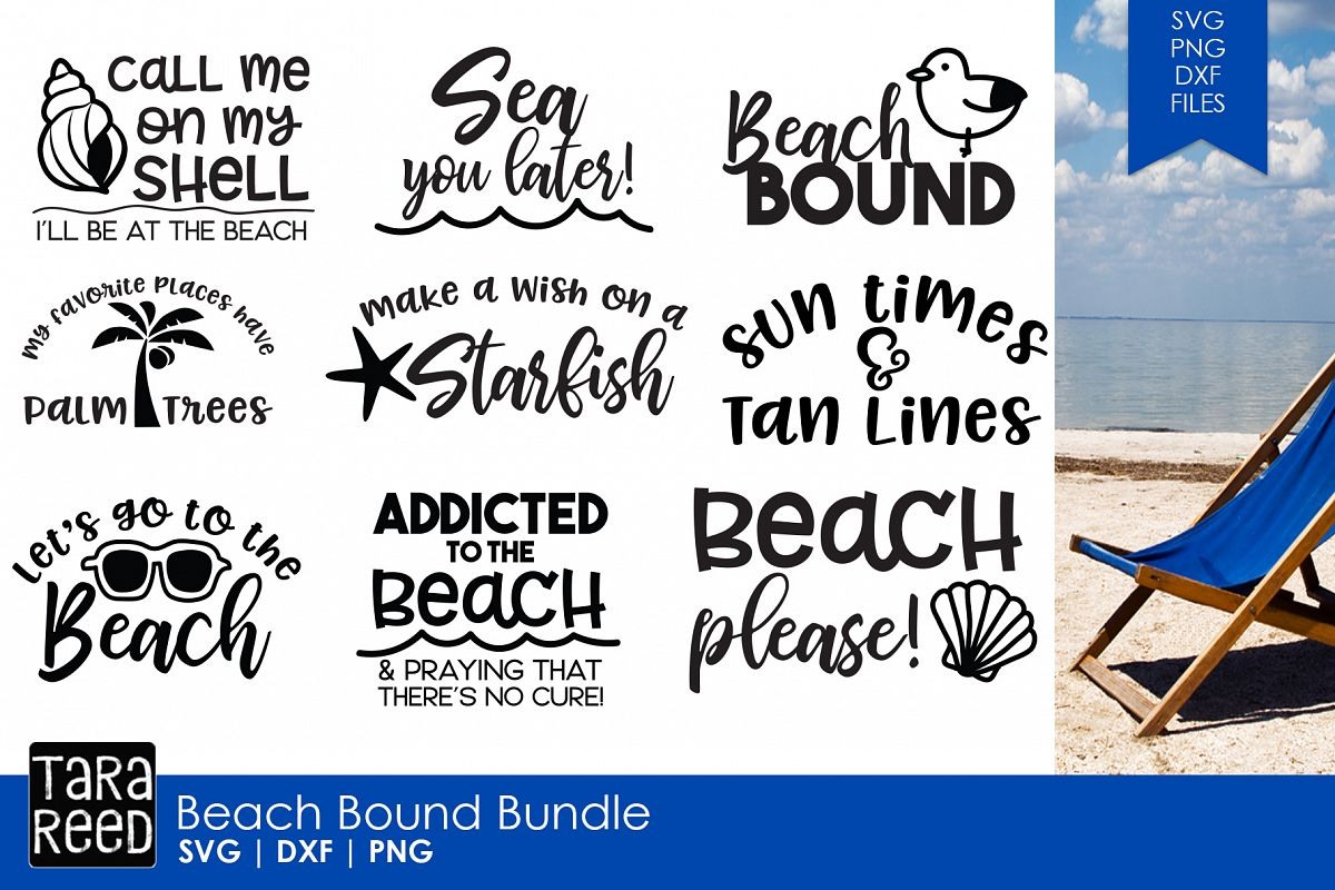 Beach Bound - Beach SVG and Cut Files for Crafters example image 1