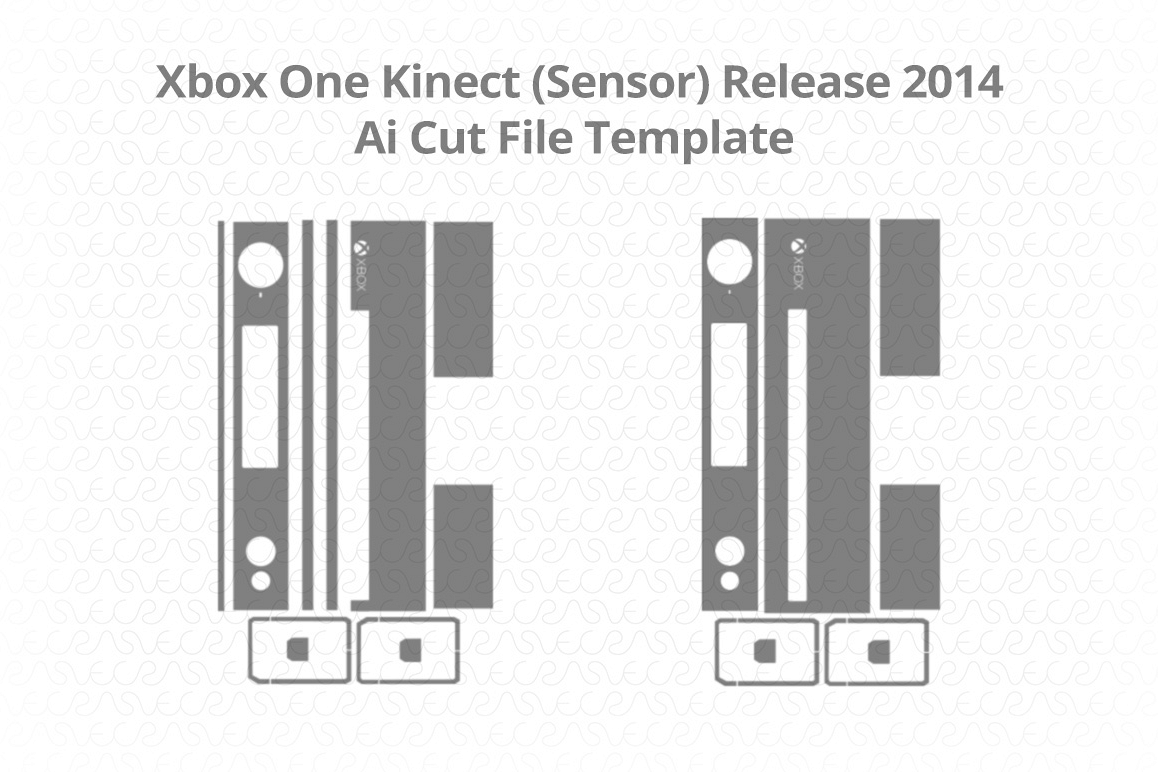 Microsoft Xbox One Kinect Sensor Vinyl Skin Vector Cut File