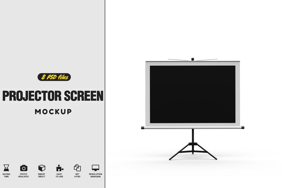 Projector Screen MockUp example image 1