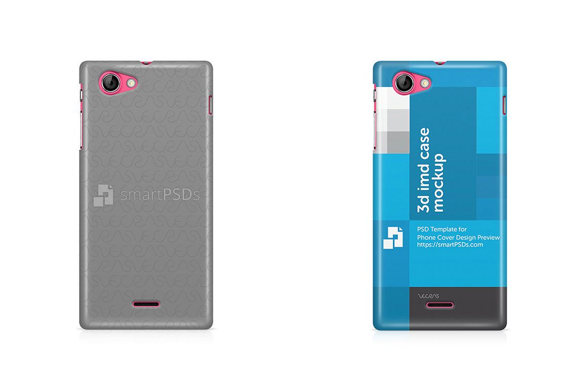 Sony Xperia J ST26i 3d IMD Mobile Case Design Mockup 2012 example image 1