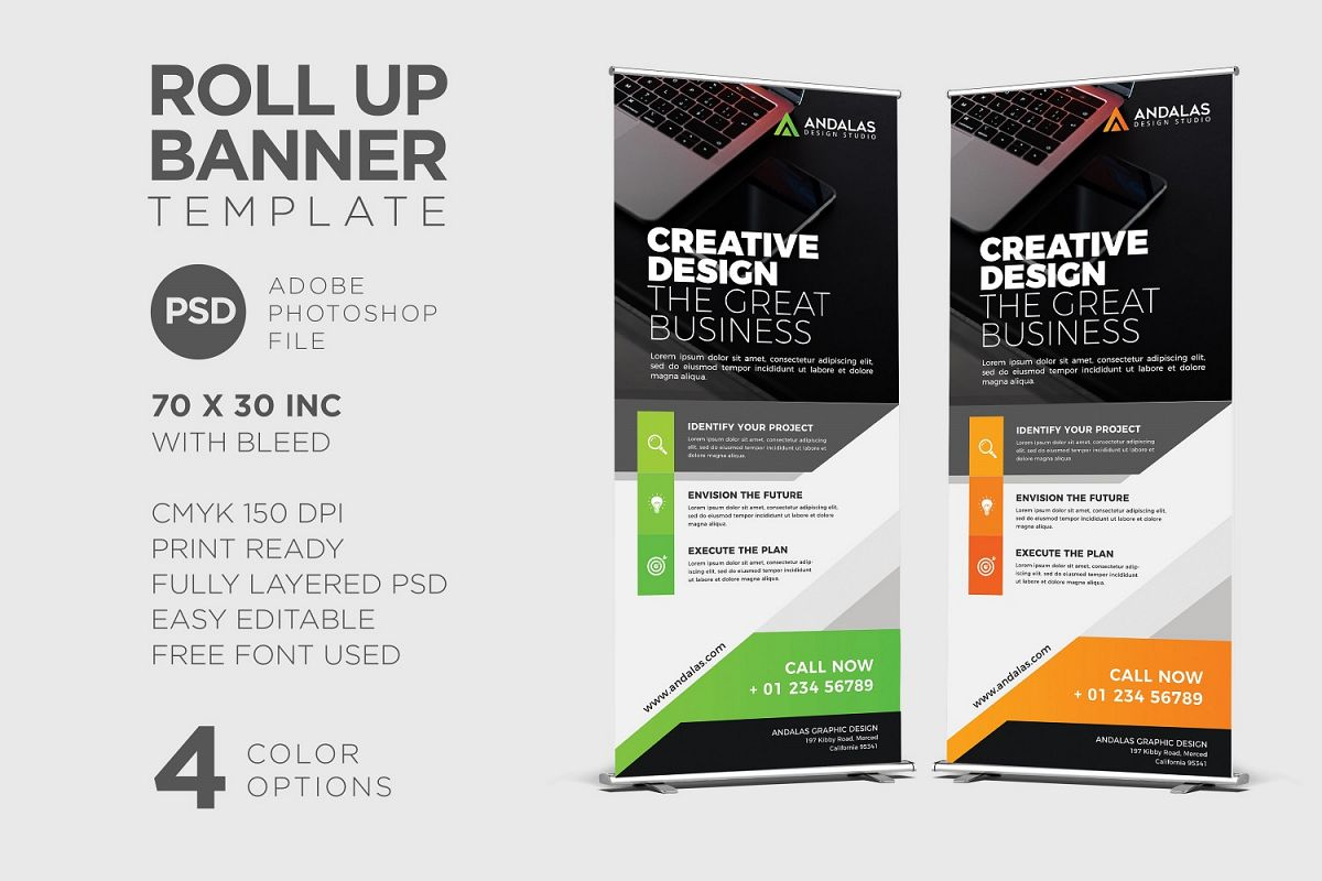 Roll Up Banner Template example image 1