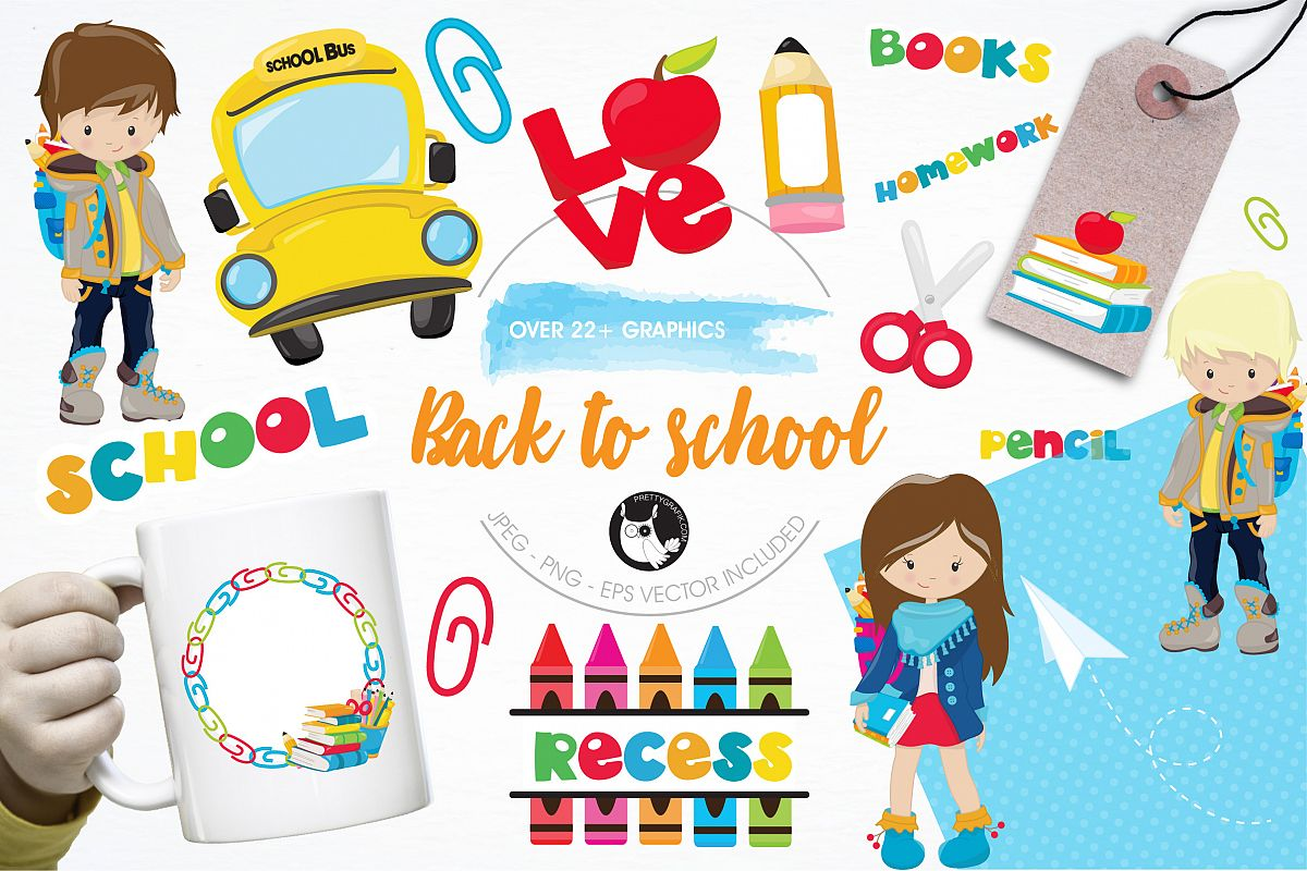 Back to school graphics and illustrations example image 1