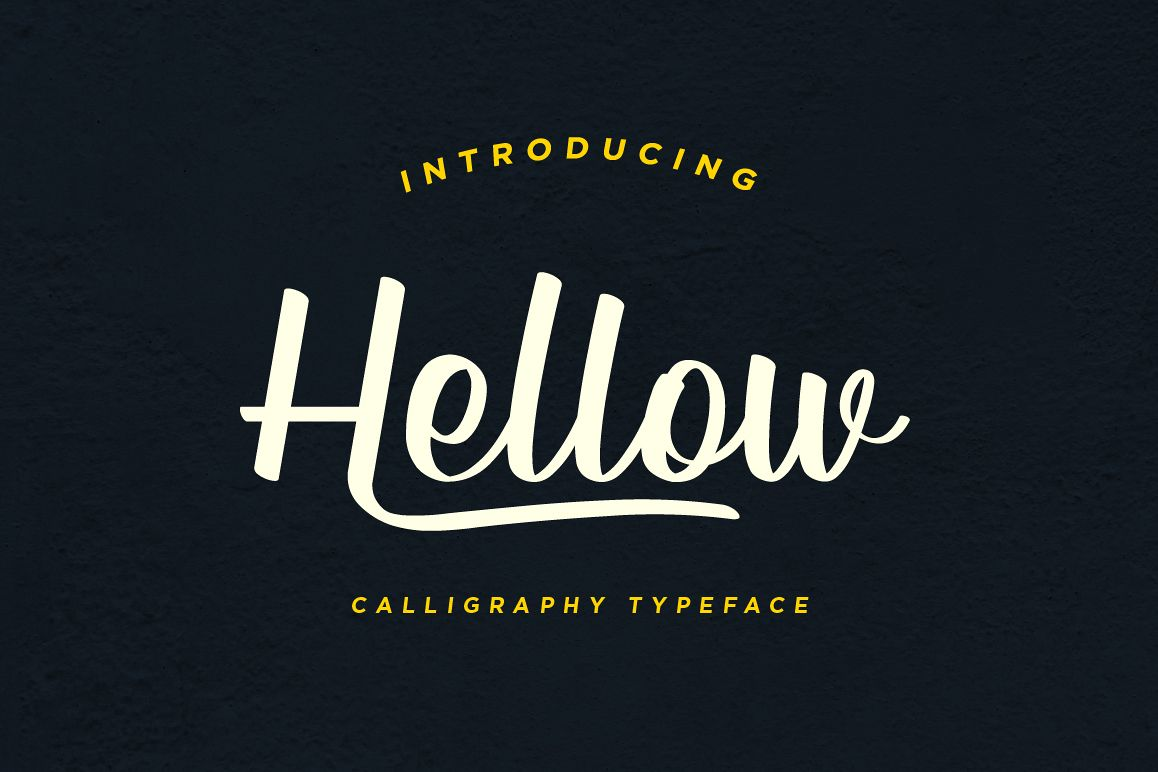 Hellow - Calligraphy Typeface example image 1