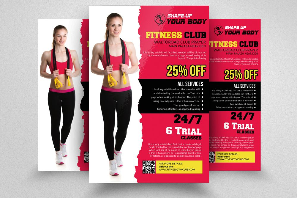 Fitness Club Flyer Template Example Image 1