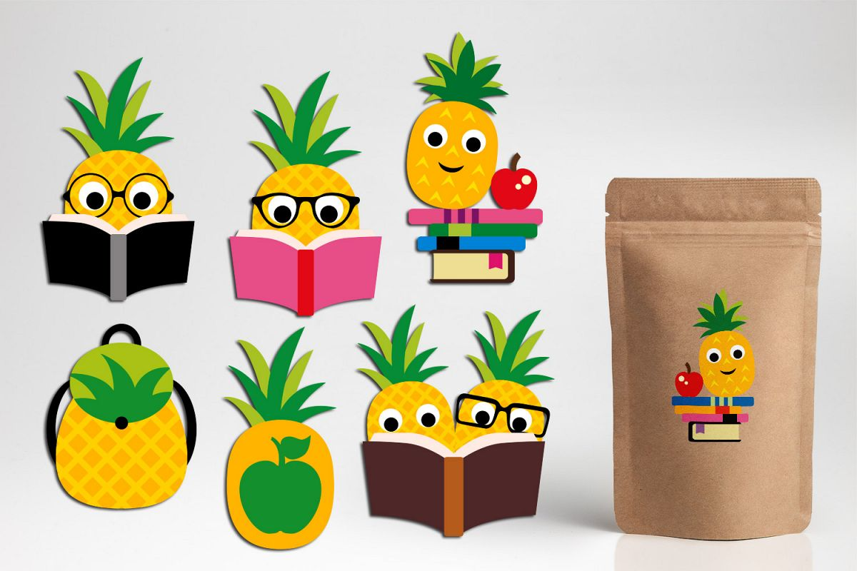 Pineapple Clip Art Design, Back to school theme