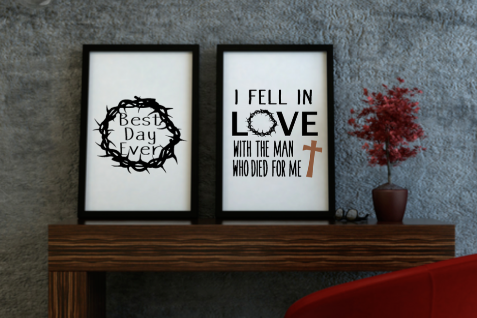Set Of Easter Prints I Fell In Love And Best Day Ever Wall Art Prints
