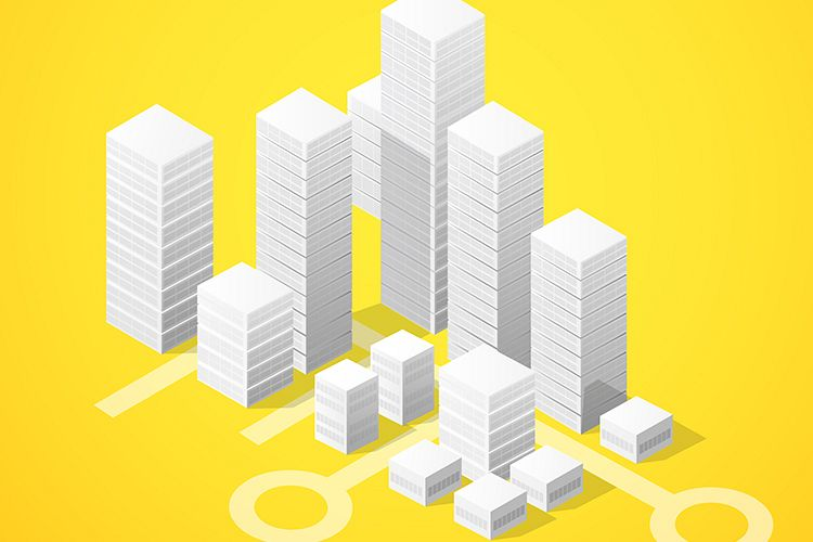 Isometric city block example image 1