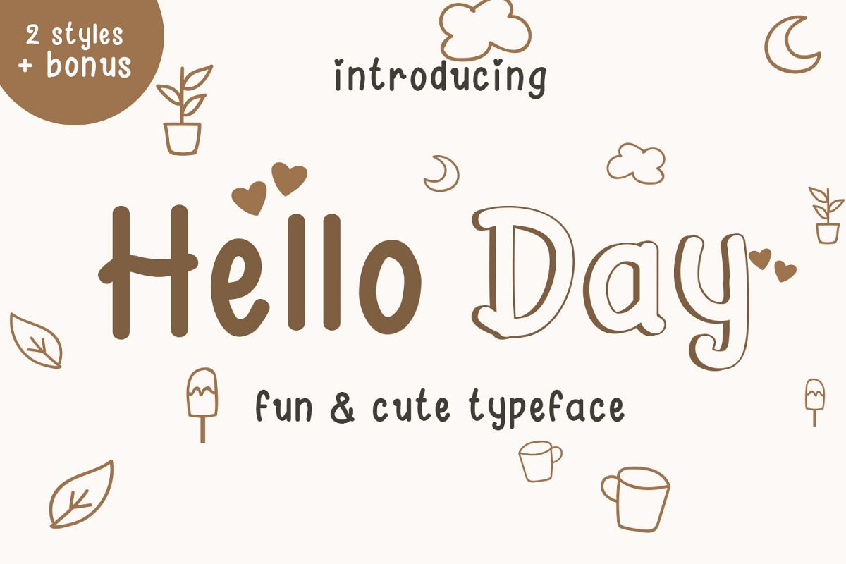 Hello Day - A Fun and Cute Font example image 1