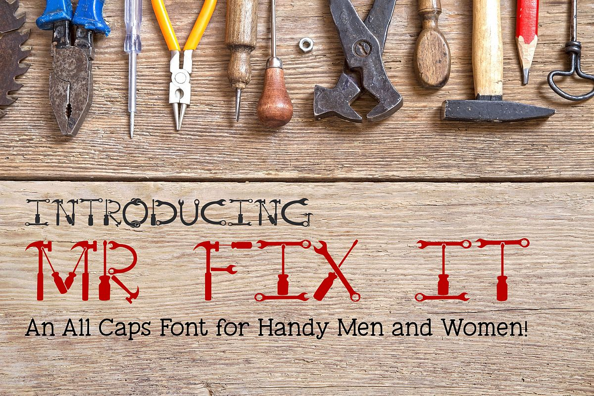 Mr Fix It - A Tool Font for Handy Men and Women example image 1