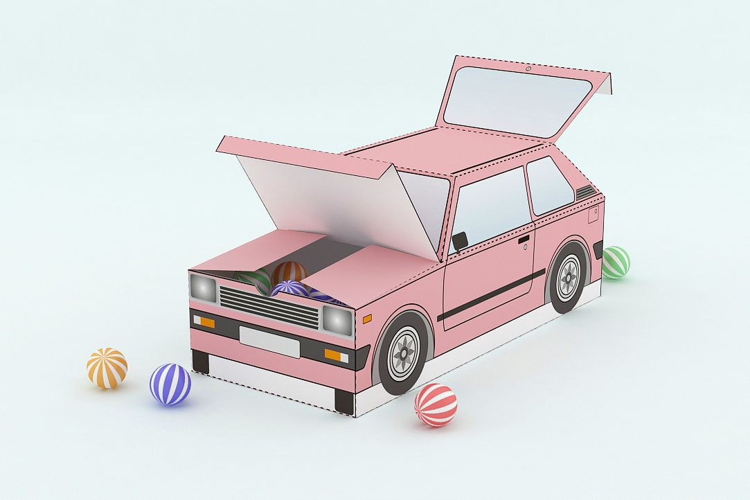 DIY Car Favor - 3d papercraft example image 1