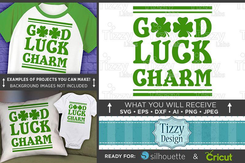 Good Luck Charm SVG - Kids St. Patricks Day - 1075 example image 1