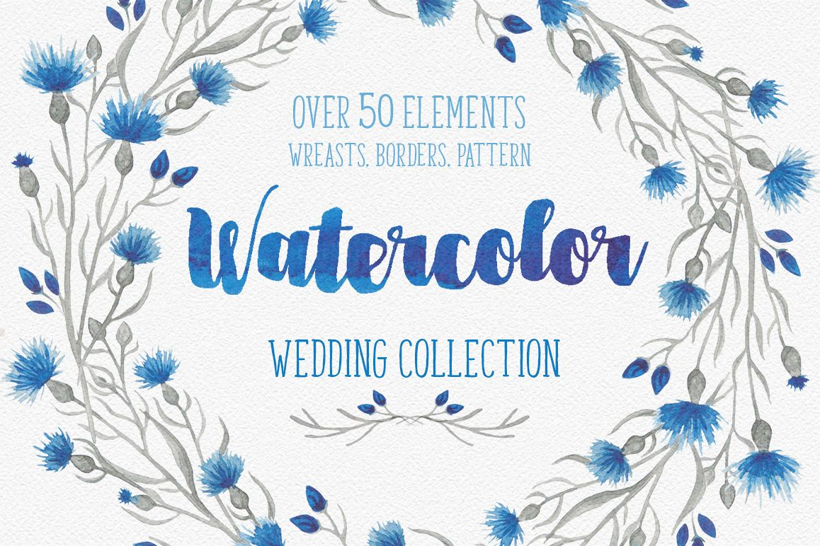 Blue flower _Wedding collection_ example image 1
