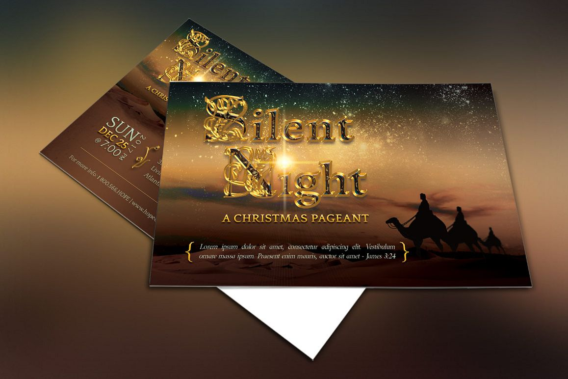 Silent Night Postcard Template example image 1
