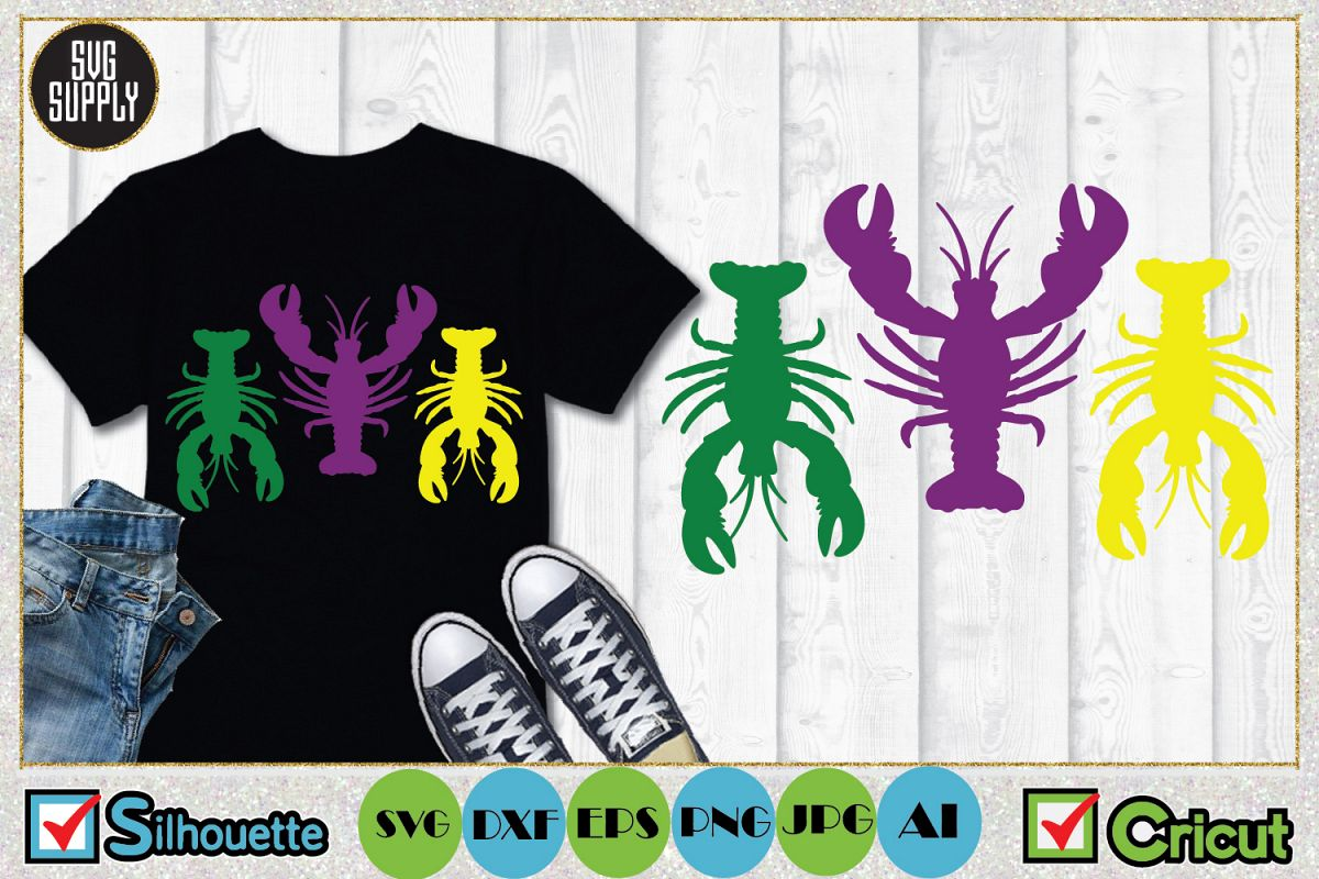 Crayfish SVG Cut File example image 1