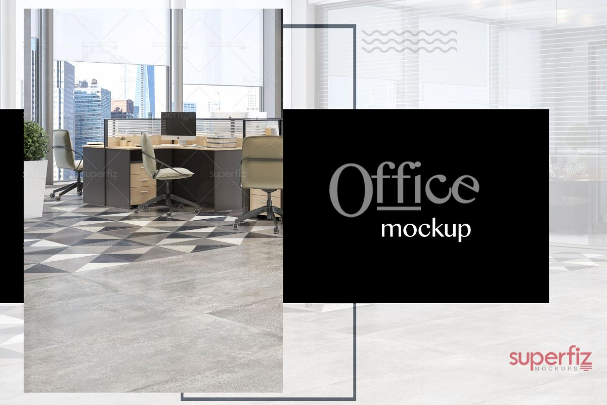 Blank Floor Commercial PSD Mockup SM79 example image 1