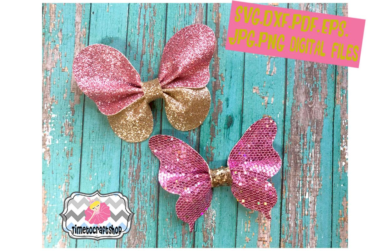 pinch butterfly hair bow template. 3d butterfly