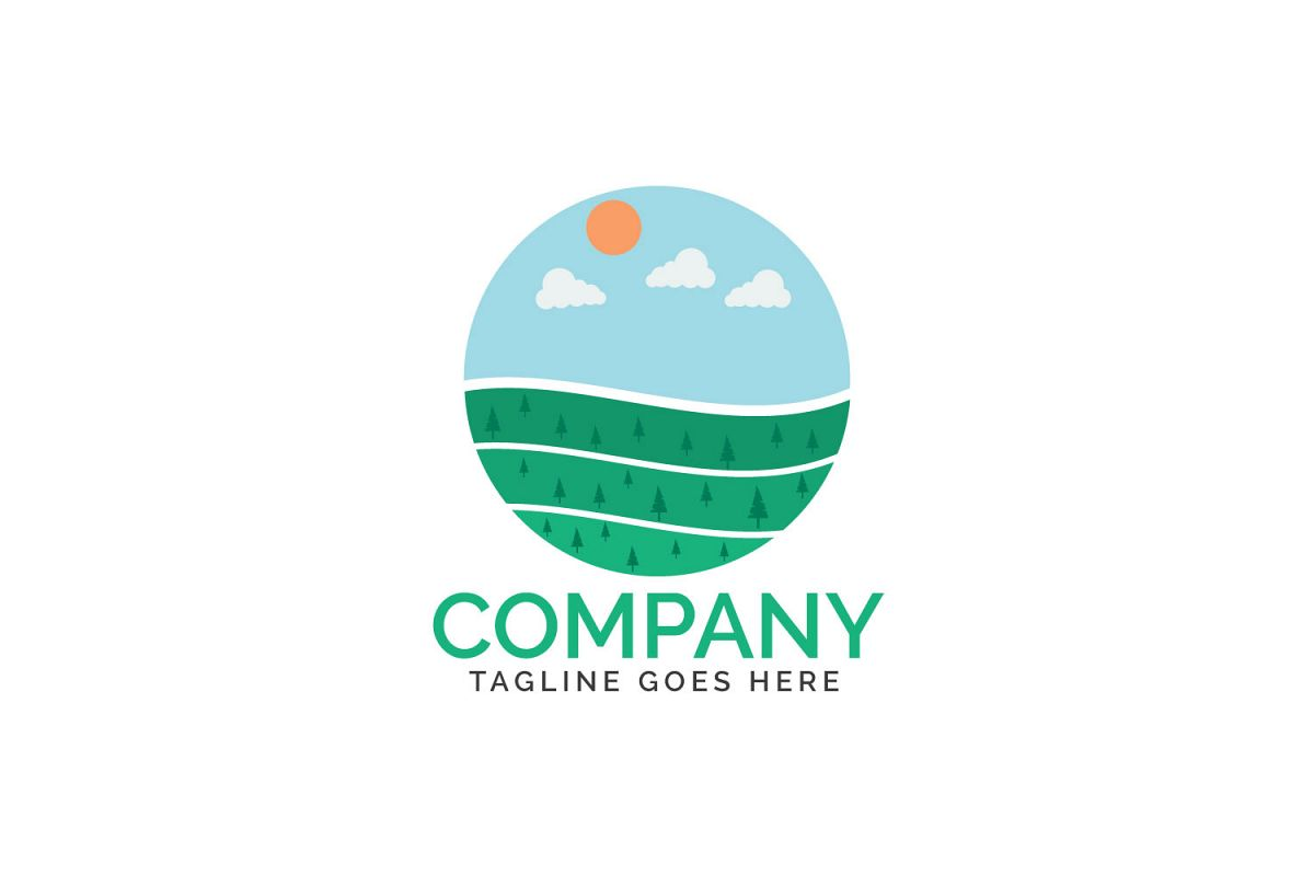 Organic farm logo design. example image 1
