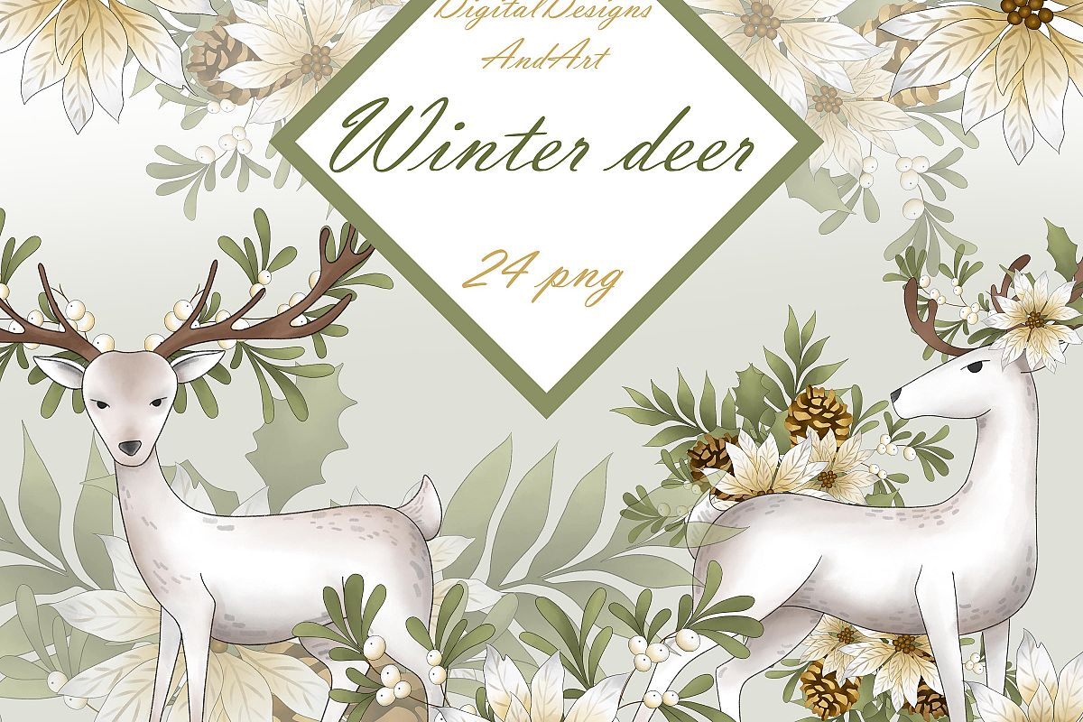 Winter deer example image 1
