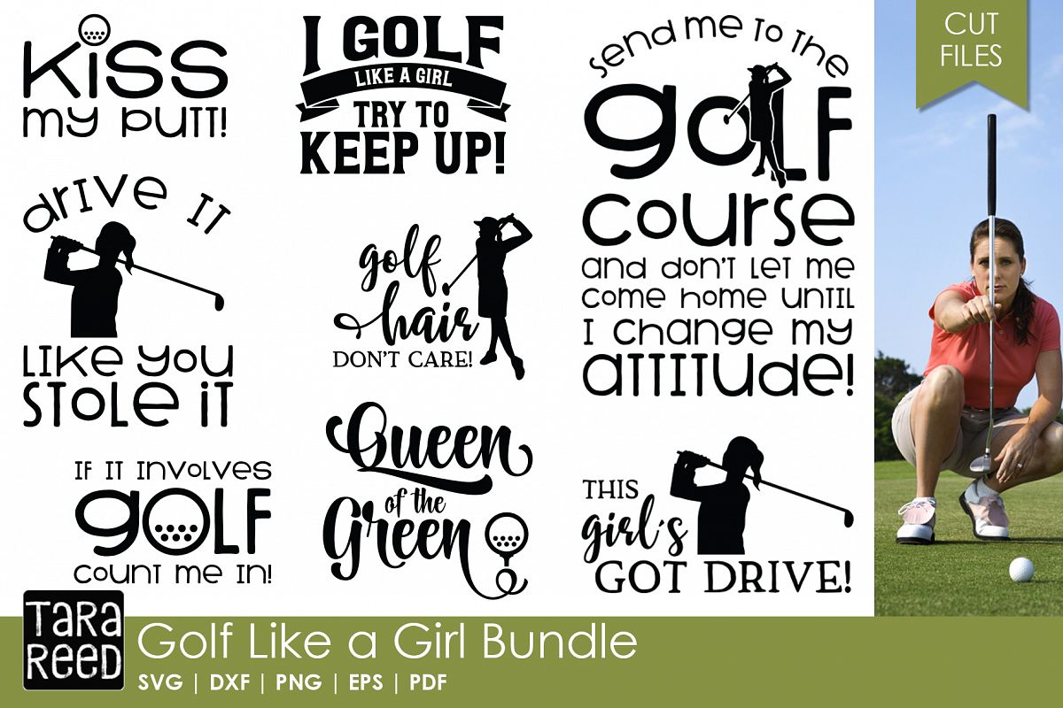 Golf Like a Girl - Golf SVG & Cut Files for Crafters example image 1