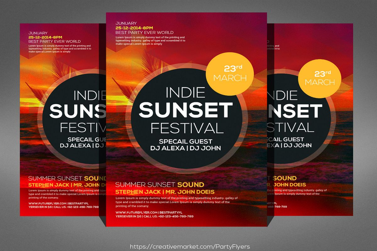 Fresh summer events flyer template fresh summer events flyer template example image 1 maxwellsz