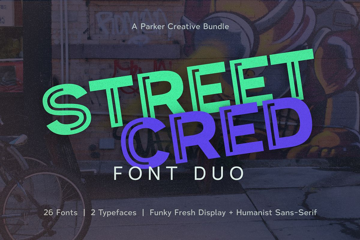 Street Cred Font Duo example image 1