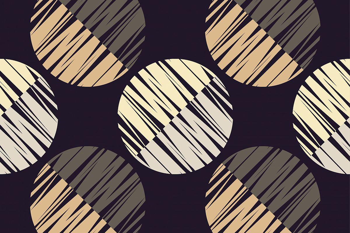 Seamless geometric pattern. Half circles background. example image 1