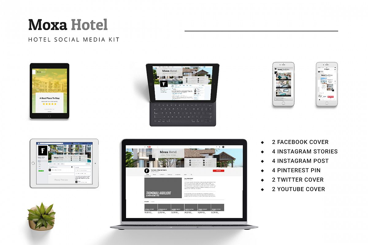 Moxa Hotel Social Media Kit example image 1
