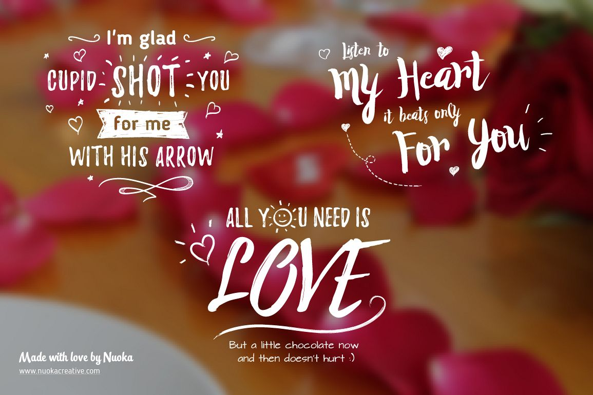 5 Greeting overlays - Words of Love example image 1