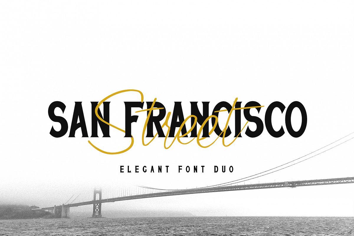 San Francisco Street Font Duo example image 1