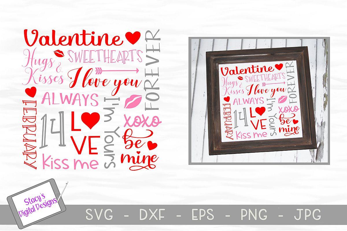 Valentine Subway Art SVG - Valentine SVG example image 1