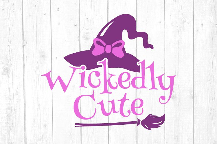 Wickedly Cute Svg, Witch Svg, Halloween Svg, Girl Tshirt example image 1