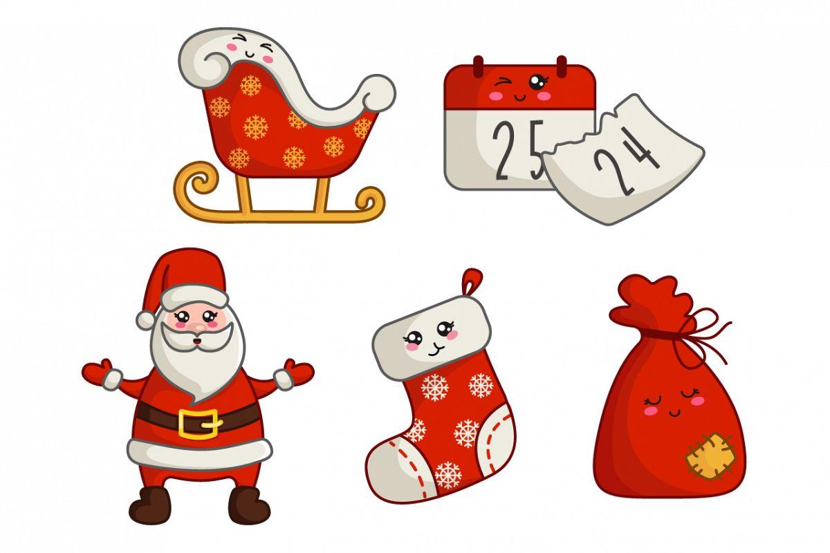 Cute vector Christmas - Santa Claus example image 1